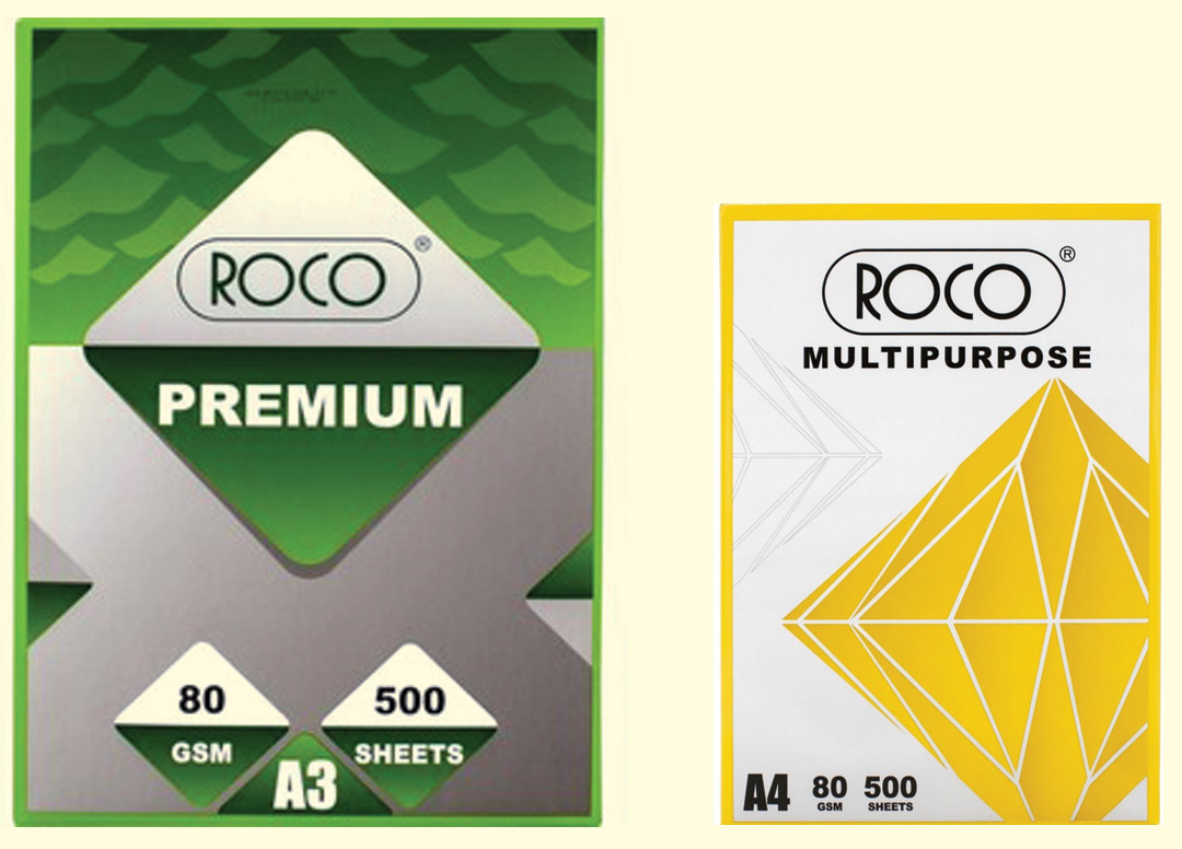 A4 white copy paper (500 sheets/ream ) 80gr (box of 5 reams) - Roco multi purpose copy paper